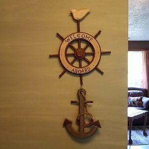 Nautical theme wall hanging